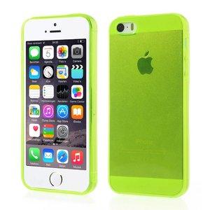 iPhone 5 en 5S Hoesje Siliconen Gel Lime Groen