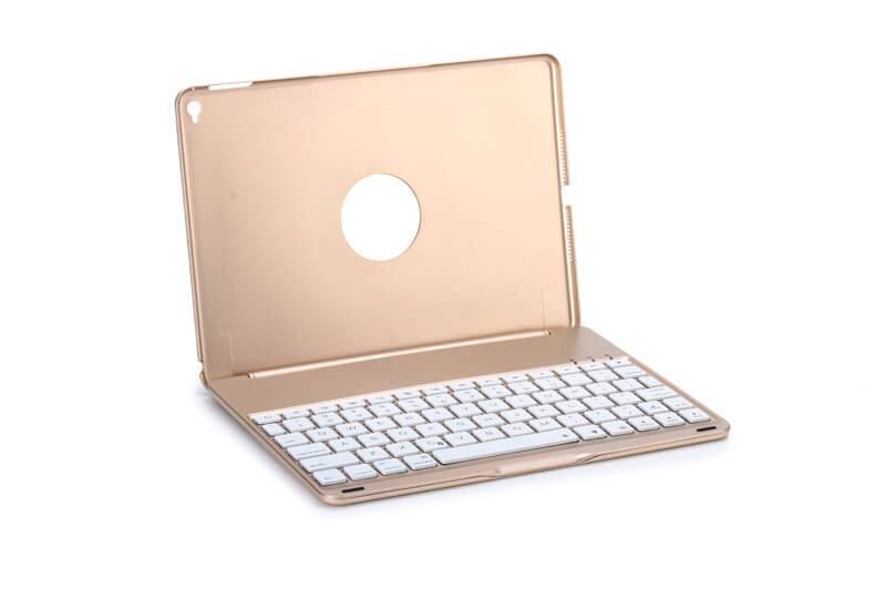 Dun Toetsenbord iPad Air 2 / iPad Pro Hoes Note Kee Goud
