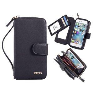Clutch Portemonnee iPhone 6 / 6S Spiegeltje Zwart