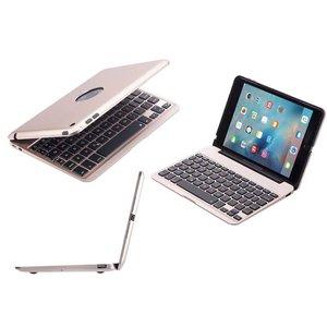 Aluminium Toetsenbord Hoes iPad Mini 4 Goud