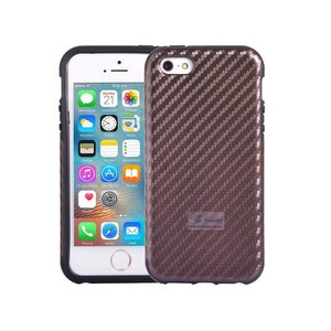 iPhone SE/5S/5 Hoesje Carbon Bruin Siliconen