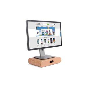 Beeldscherm Monitor Standaard Opbergvak Licht Hout
