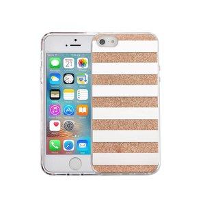 iPhone SE/5S/5 Hardcase Glitter Strepen Goud