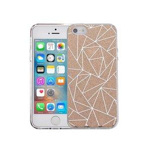 iPhone SE/5S/5 Hardcase Glitter Mozaiek Goud