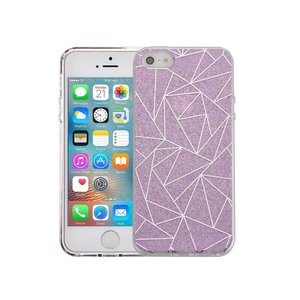 iPhone SE/5S/5 Hardcase Glitter Mozaiek Paars