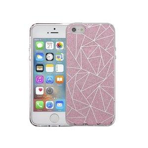 iPhone SE/5S/5 Hardcase Glitter Mozaiek Roze