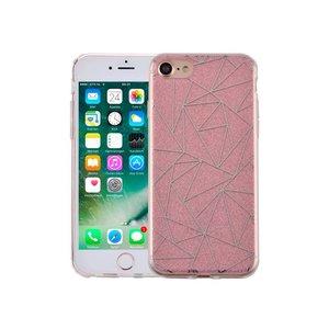 iPhone 7 Hardcase Glitter Mozaiek Roze