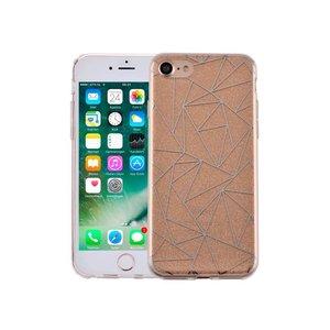 iPhone 7 Hardcase Glitter Mozaiek Goud