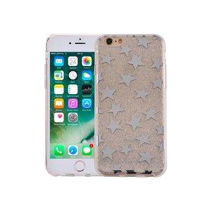 iPhone 6 en 6S Hardcase Glitter Sterretjes Zilver
