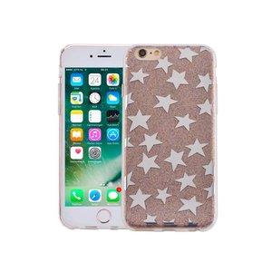 iPhone 6 en 6S Hardcase Glitter Sterretjes Multicolor