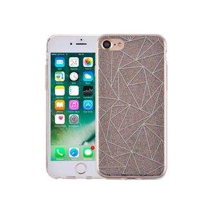 iPhone 7 Hardcase Glitter Mozaïek Multicolor