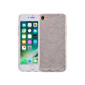 iPhone 7 Hardcase Glitter Mozaiek Zilver