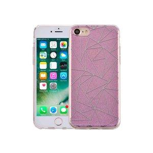 iPhone 7 Hardcase Glitter Mozaiek Paars