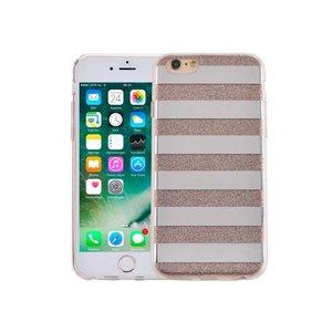 iPhone 6/6S Hardcase Glitter Strepen Multicolor