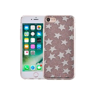 iPhone 7 Hardcase Glitter Sterretjes Multicolor