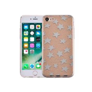 iPhone 7 Hardcase Glitter Sterretjes Goud