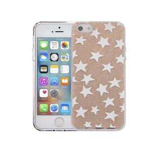 iPhone SE/5S/5 Hardcase Glitter Sterretjes Goud