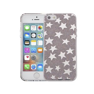 iPhone SE/5S/5 Hardcase Glitter Sterren Multicolor