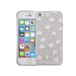 iPhone SE/5S/5 Hardcase Glitter Sterren Zilver