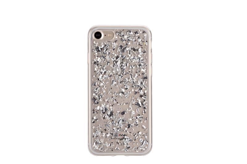 Iphone 7 Plus Hoesjes Glitters Zilver