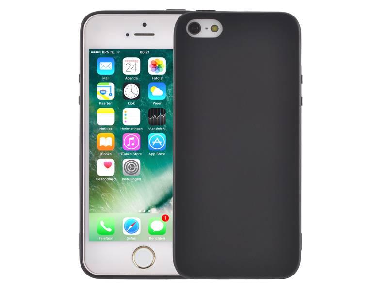 Dagaanbieding: Ultradun iPhone SE/5S/5 Hoesje Siliconen Mat Zwart