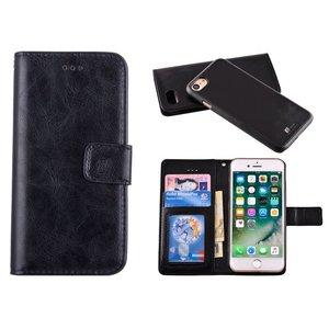Uitneembaar 2 in 1 Bookcase Hoes iPhone 8 /7 Zwart