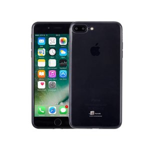 iPhone 8/7 Plus Siliconen Hoesje Zwart Transparant