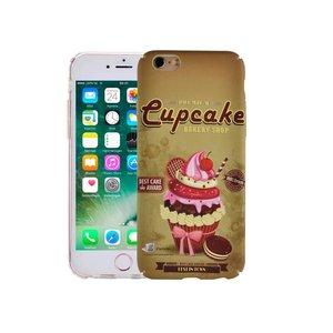iPhone 7 Hoesje Vintage Look Cupcake Bruin