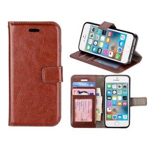 iPhone SE/5S/5 Bookcase Hoesje Bruin