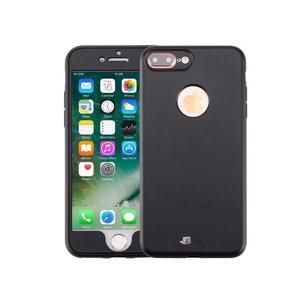 iPhone 8/7 Plus Hoesje 360 Siliconen Logo Zwart