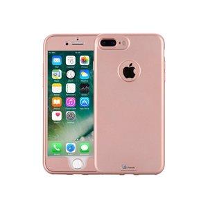 iPhone 7 Plus Hoesje 360 Siliconen Logo Rose Goud