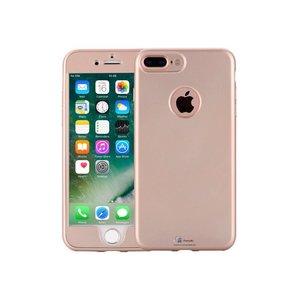 iPhone 7 Plus Hoesje 360 Siliconen Logo Goud
