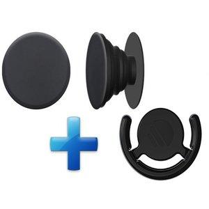 Popsockets Button met Auto houder Zwart