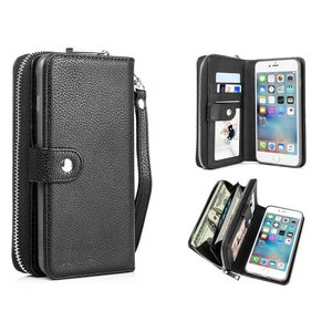 iPhone 6 Plus / 6S Plus Portemonnee Clutch Zwart