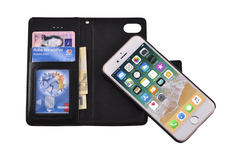 iPhone 8 bookcase uitneembaar zwart
