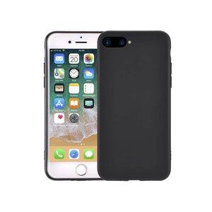 iPhone 8/7 Plus Hoesje Siliconen Dun Mat Zwart
