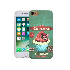 iPhone 8/7 Hoesje Vintage Look Cupcake Groen
