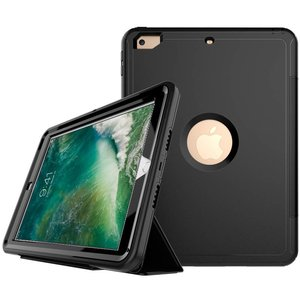 iPad 2017 / iPad Air Hoes Shockproof Case Zwart