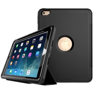 iPad 2, 3 en 4 Hoes Shockproof Smart Case Zwart