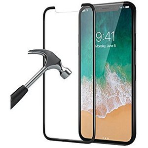 iPhone X Screenprotector Glas Perfect Fit Zwart
