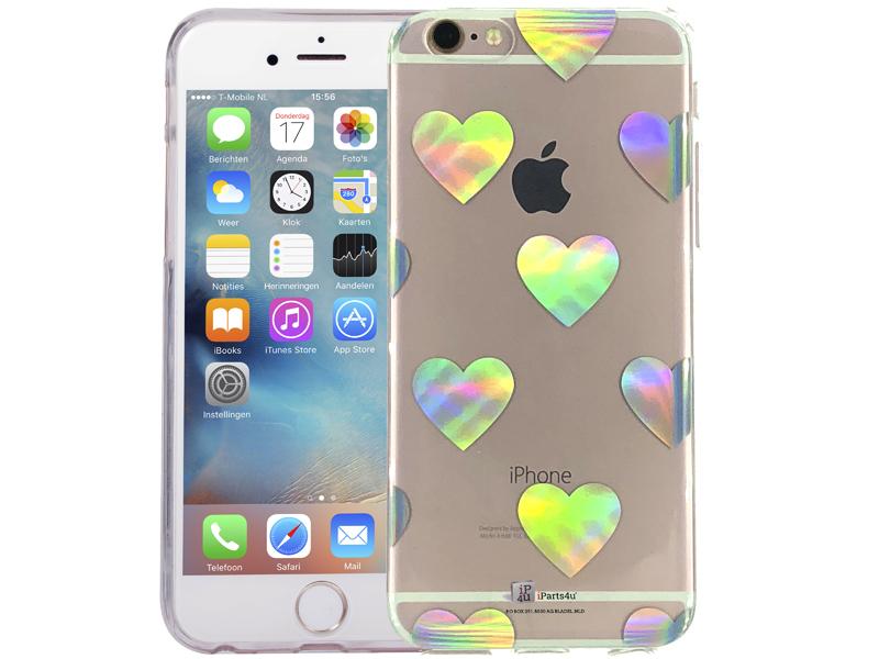 iPhone 6/6S hoesje hartjes hologram