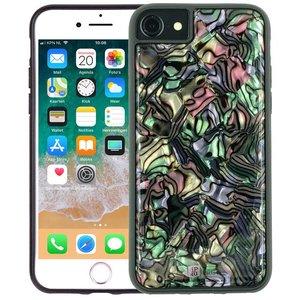 iPhone 8/7/6S/6 Hoesje Schelp Parelmoer Zwart