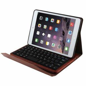 Toetsenbord iPad mini 1/2/3 Leder Cover Bruin