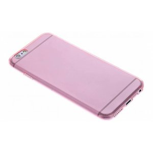 Roze ultra thin transparant TPU hoesje iPhone 6 / 6s