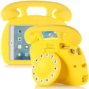 Kinderhoes iPad Mini Retro Telefoon Geel