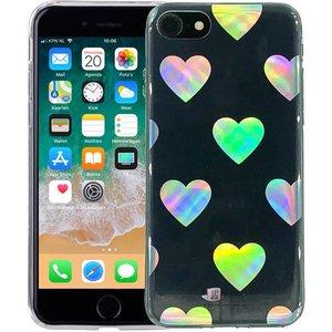 iPhone 8/7 Hoesje Hologram Hartjes Transparant