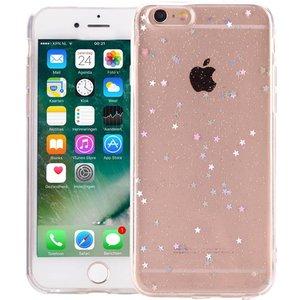 iPhone 6/6S Glitter Hoesje Sterretjes Transparant