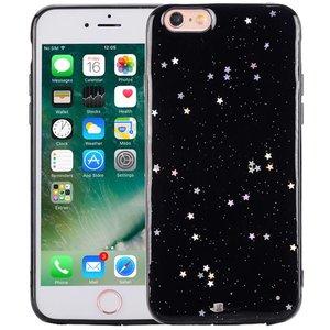 iPhone 8/7 Glitter Hoesje Sterretjes Zwart