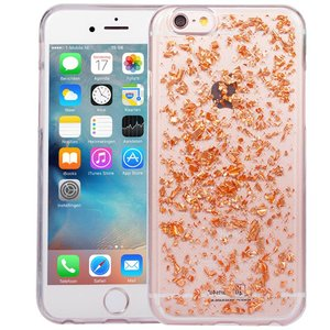 iPhone 8/7 Glitter Hoesje Snippers Rose Goud