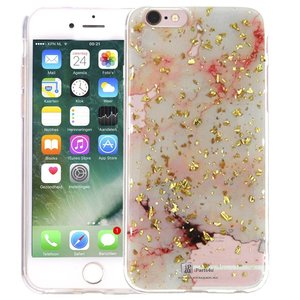 Marmer iPhone 6/6S Hoesje Snippers Marble Roze